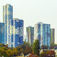 Nanterre, les tours «nuages». Émile Aillaud, arch., 1977.