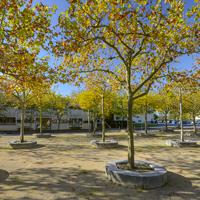 Lormont (Gironde), esplanade François-Mitterrand, 2014.