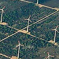 Champ d'éoliennes en Allemagne