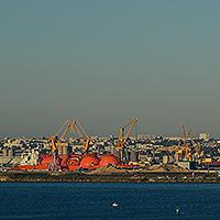 La zone portuaire de Brest.