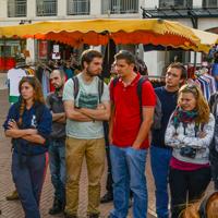 Arcachon, centre-ville. Voyage de Master 1, 2015.