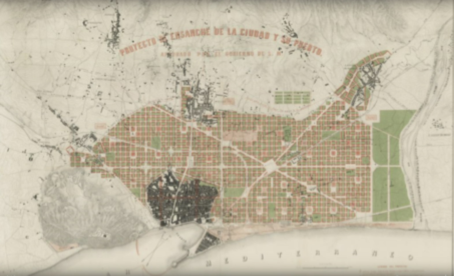 le plan de Cerdá pour Barcelone